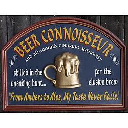Beer Connoisseur Pub Sign