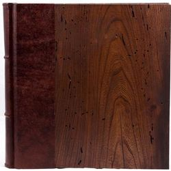 14x14 Italian Vintage Wood and Leather Photo Album