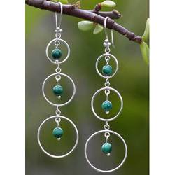 Malachite Hanging Gardens Earrings