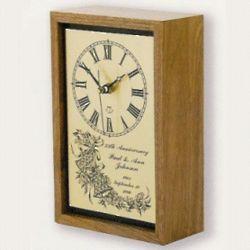 Wedding or Anniversary Desk Clock
