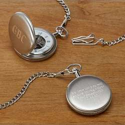 Chrome Plated Pocket Watch