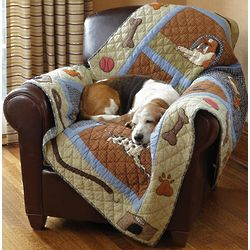 Dog Days Quilted Throw