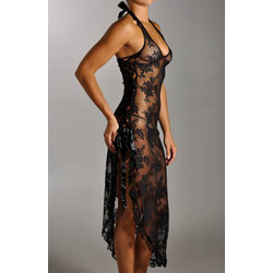Lace Gown with G-String Set