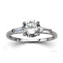 DiamonUltra Cubic Zirconia 10k White Gold Ring