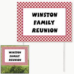 Personalized Gingham Yard Sign