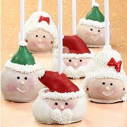 6 Christmas Chocolate Cake Pops