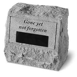 Personalized Gone Yet Not Forgotten Memorial