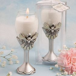 Angel Champagne Flute Candle Holder