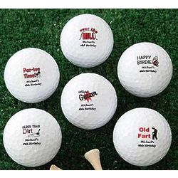 Over The Hill Personalized Birthday Golf Balls - Nike Mojo
