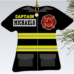 Personalized Firefighter Uniform Ornament