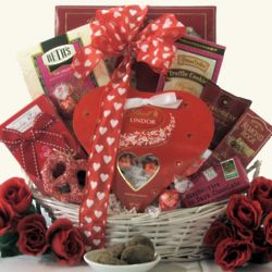 Sweet Devotion Small Chocolate and Sweets Gift Basket