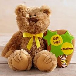 Get Well Bear with Personalized Cookie