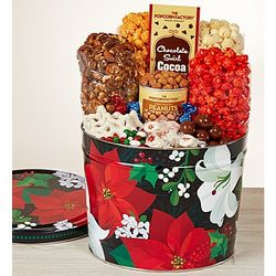 Winter Floral Snack Assortment Tin
