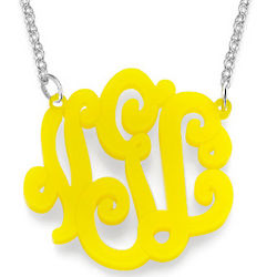Customized Acrylic Monogram Necklace