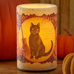 Vintage Black Cat Electronic Candle