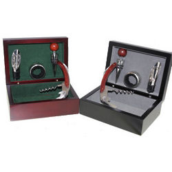 Wine Accessories in Personalized Wooden Box