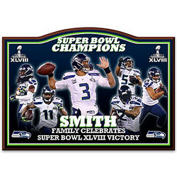 Seahawks Super Bowl XLVIII Personalized Wall Decor