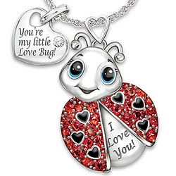 Granddaughter, You're Cute as a Bug Engraved Ladybug Pendant