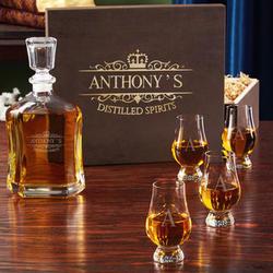Personalized Kensington Liquor Decanter with Glencairn Glasses