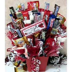 You're The Heart of Our Family Candy Bouquet