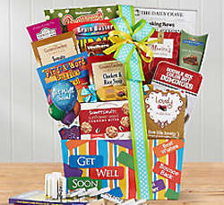 Get Well Soon Food and Games Gift Basket