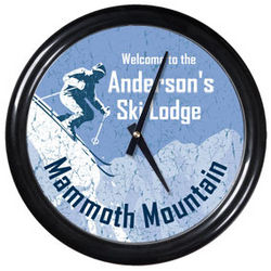Personalized Ski Lodge Clock
