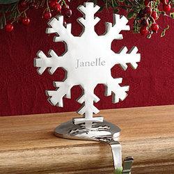 Engraved Snowflake Stocking Holder