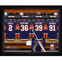 Personalized NHL New York Islanders Locker Room Print