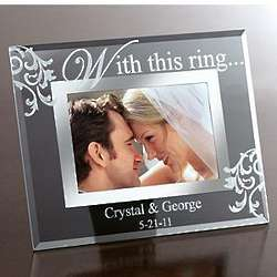 Personalized With This Ring Glass Frame
