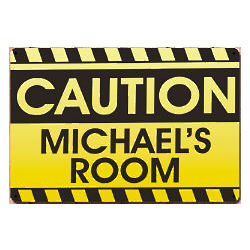 Personalized Caution Metal Wall Sign