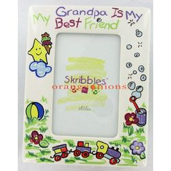 Grandpa Scribble Photo Frame