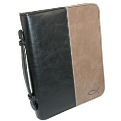 Black and Tan Faux Leather Bible Cover