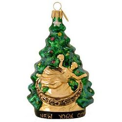 NYC at Christmastime Blown Glass Ornament