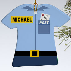 Personalized Mail Carrier Ornament