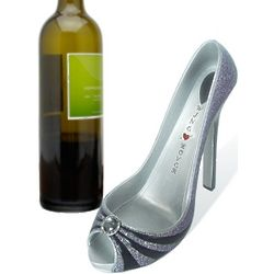 Diamond Splendor Shoe Wine Holder