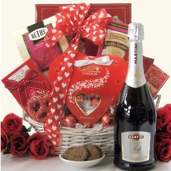 Sweet Devotion Small Valentine's Day Wine Gift Basket