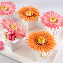 Personalized Gerber Daisy Baby Shower Favor Boxes