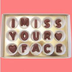 I Miss Your Face Large Milk Chocolate Letters Gift Box