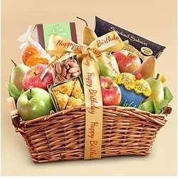 Deluxe Happy Birthday Fruit Basket