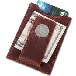 Buffalo Nickel Leather Money Clip