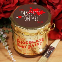 Personalized Dessert's On Me Chocolate Body Paint