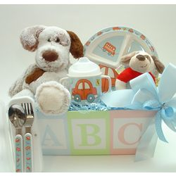 Puppy Pals Baby's Dinnertime Gift Basket