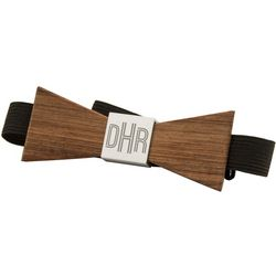 Monogrammed Wood Bow Tie