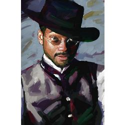 Will Smith Wild Wild West Oil Painting Art Print