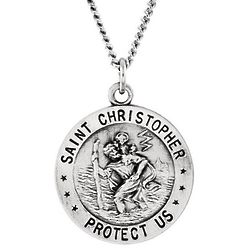 "St. Christopher US Air Force Medal 18"" Necklace"