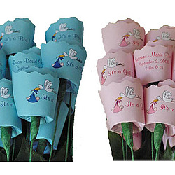It's a Boy/Girl Bouquet of 13 Paper Roses