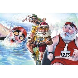 Triathlon Santa Holiday Cards Boxed Set - FindGift.com