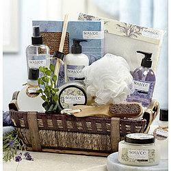 Denarii Lavender Spa Basket