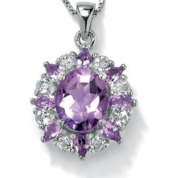 Amethyst and White Topaz Pendant