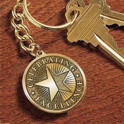 Medallion Award Key Chain